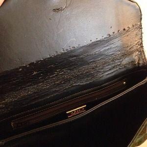 Vintage Bags - ⭐️Vintage geo suede clutch purse