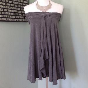Free People Tops - Free People Draped Grey Sleeveless Top