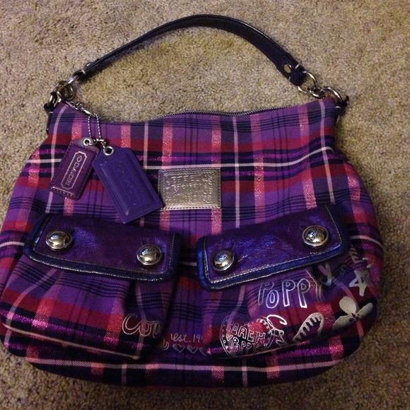 BUNDLED 🌸Coach purple poppy purse