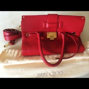 Jimmy Choo Handbags - ❤️ Authentic Jimmy Choo Red Leather Purse