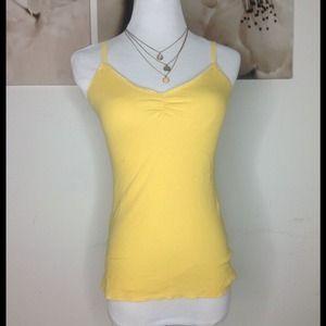 Express Tops - Cute yellow/gold Summer tank top