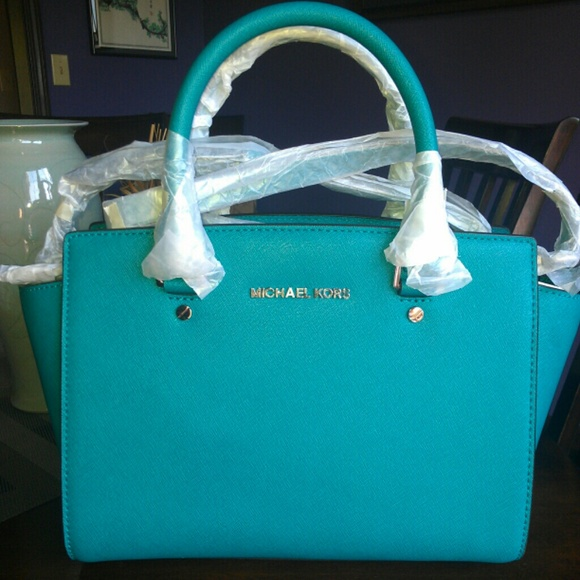 Michael Kors - NWT Michael Kors AQUA Selma Medium Satchel Bag from ...