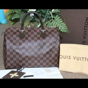% Authentic Louis Vuitton Speedy 30 DamierEbene