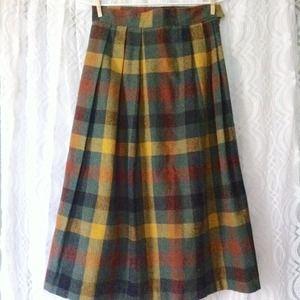 Plaid Tea-length Skirt