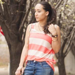 Zara Tops - Zara Pink Striped Sleeveless Knit Top