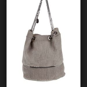 Stella McCartney woven taupe bucket bag