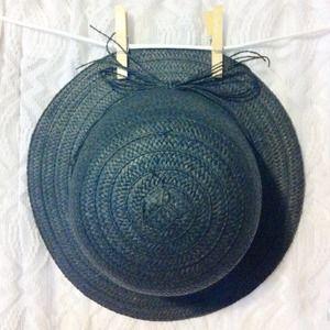 Straw Bowler Hat