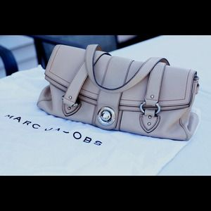 Marc Jacobs Buckle Satchel handbag. Made in Italy.