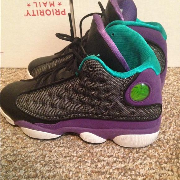 Jordan Retro 13 Purple: Girls RETRO 13 Black Turquoise And