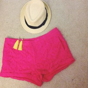 Forever 21 Pants - Hot Pink Lace Shorts