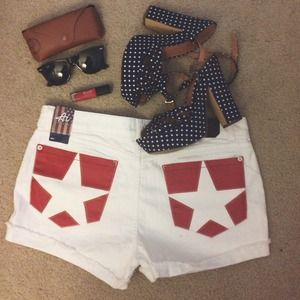 American Icon Pants - Americana White Shorts