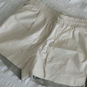 Pants - Leather Track Shorts