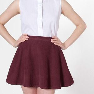 American Apparel Dresses & Skirts - American Apparel High Waist Corduroy Circle Skirt