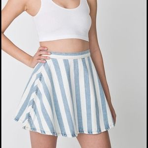 American Apparel Dresses & Skirts - American Apparel Striped Denim Circle Skirt
