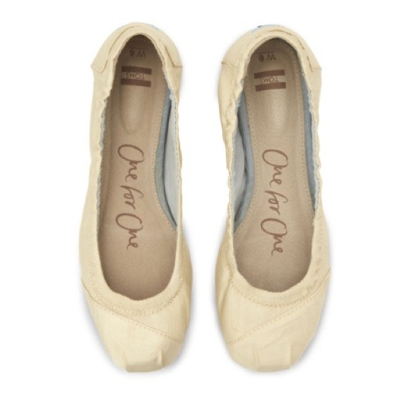 46% off TOMS Shoes - Toms Ivory Grosgrain Bridal Ballet Flats from ...