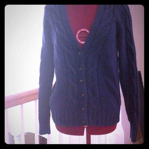 Old Navy - Navy blue button up sweater from ! kayla's closet on ...