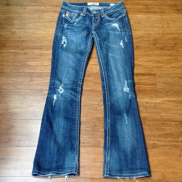 Distressed Bootcut Jeans Womens Ye Jean