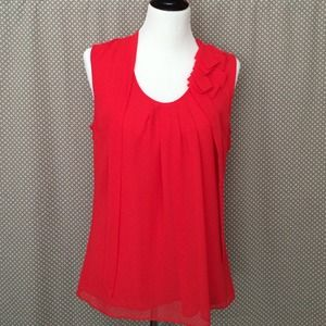 GAP Tops - Gap Red Pleated Tank