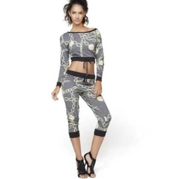 78099f8a37ece Designer Yoga pants with matching crop top