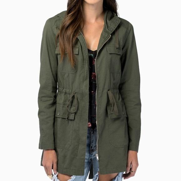 73% off Tobi Outerwear - Lightweight Green Anorak Jacket from ...