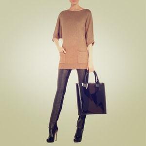 BCBG Nevena sweater in vicuna (camel) color