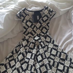 Mink pink black and white dress