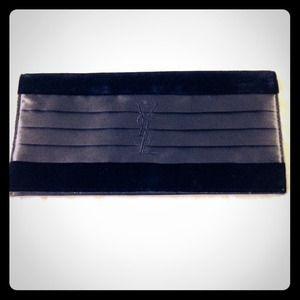 Yves Saint Laurent - YSL Black Velvet \u0026amp; Satin Clutch from Ochi\u0026#39;s ...