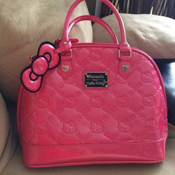 dde9b09cdc89 Hello Kitty Handbags - HOT PINK- HELLO KITTY LV style LARGE purse.