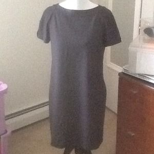 Lined grey shift dress - perfect for work - Gap