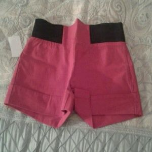 Other - NWT Red Black Dressy Shorts Sz Small