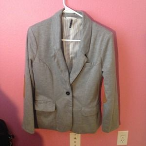 Checks & Stripes Jackets & Blazers - Fitted Blazer with Elbow Patch