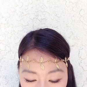 Accessories - Matte Gold Floral head piece/ headband