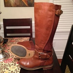 6137e6f54098 Lucky Brand Shoes - Cognac leather Lucky Brand Aida Boots