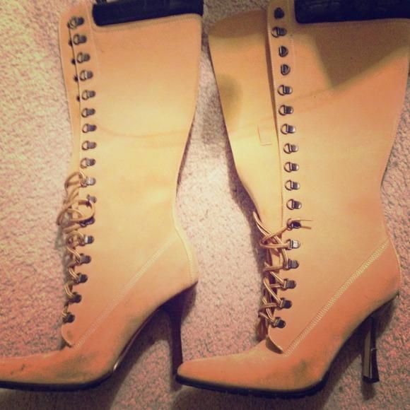 high heels timberland style heels