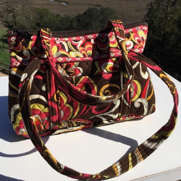 Vera Bradley Handbags - Vera Bradley Puccini Brown Orange Swirl Betsy Bag