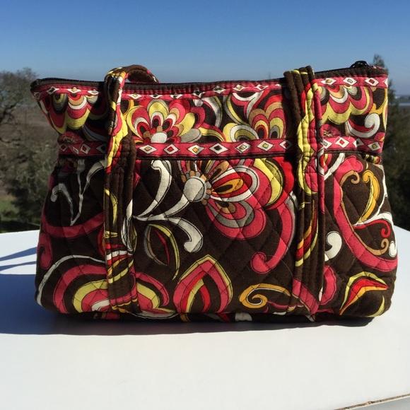 Vera Bradley Bags - Vera Bradley Brown Orange Swirl Betsy Bag