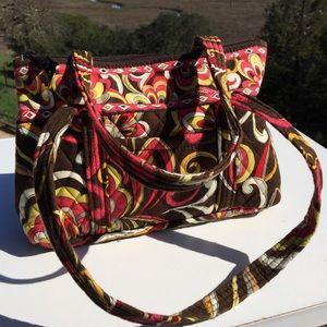 Vera Bradley Bags - Vera Bradley Puccini Brown Orange Swirl Betsy Bag