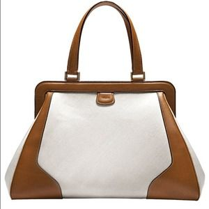 Valextra  Handbags - Valextra linen and leather double handle tote NWT