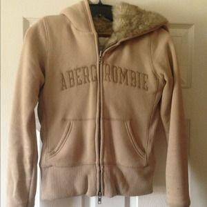 Abercrombie & fitch fur jacket S