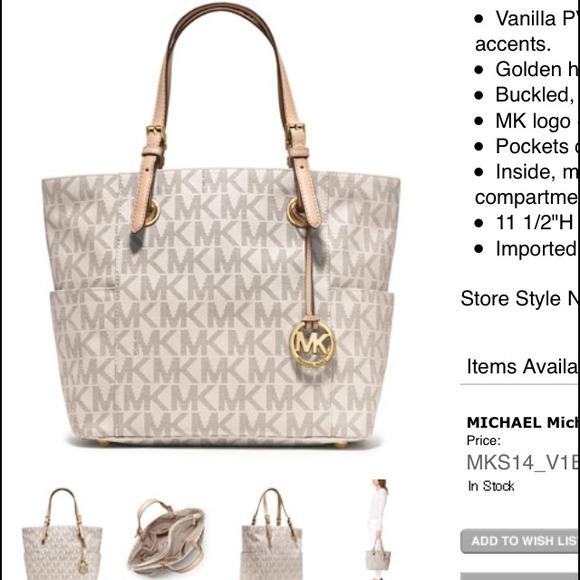 fb941f0c48e7 Authentic MK vanilla color purse. M 539740d63ddfd459ae32b903