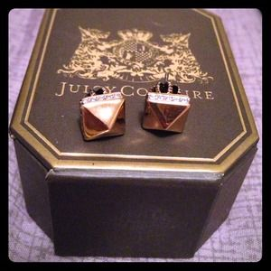 Juicy couture gold studs