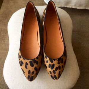 Madewell Shoes - Madewell Calf Hair Leopard Sidewalk Skimmers