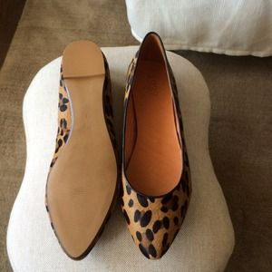 Madewell Shoes - Madewell Calf Hair Leopard Sidewalk Skimmers 3