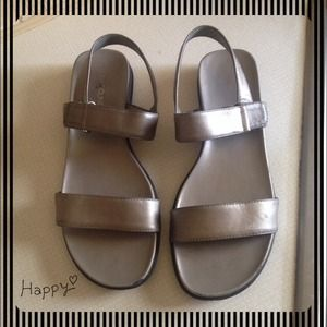 Leather Silver Sandals