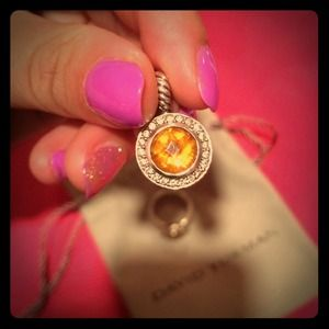 Authentic david yurman citrine pendant