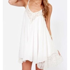 Dresses & Skirts - Ivory lace dress from lulus