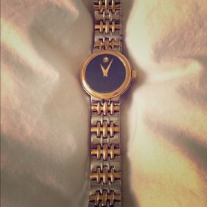 Gold and Stainless Steel Ladies Movado
