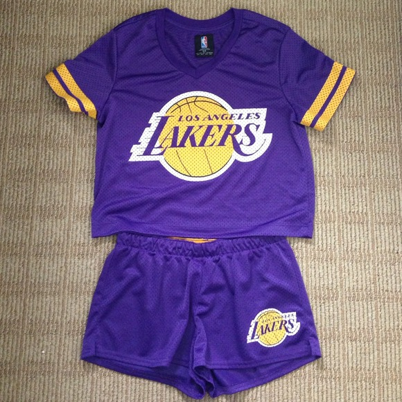 caa99f35ce2 Forever 21 Other - LAKERS JERSEY TOP AND SHORTS