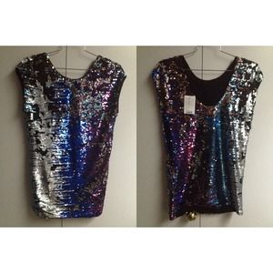 Staring At Stars Multi-Sequin Tee Dress