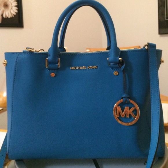 07ee6d93c2eb Buy michael kors blue bag   OFF73% Discounted